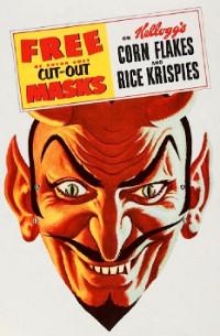 Cereal Thriller: Vintage cut-out-and-keep Devil Mask