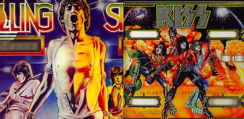 Pinball machine  featuring the Stones, Elton John, The Who, AC/DC, KISS and many more