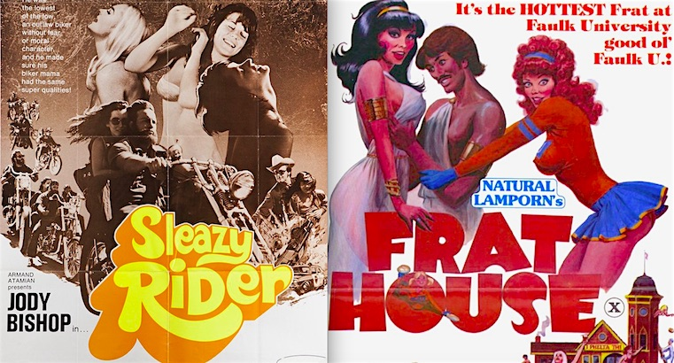 Vintage X-rated parody movie posters from the Golden Age of Sleaze