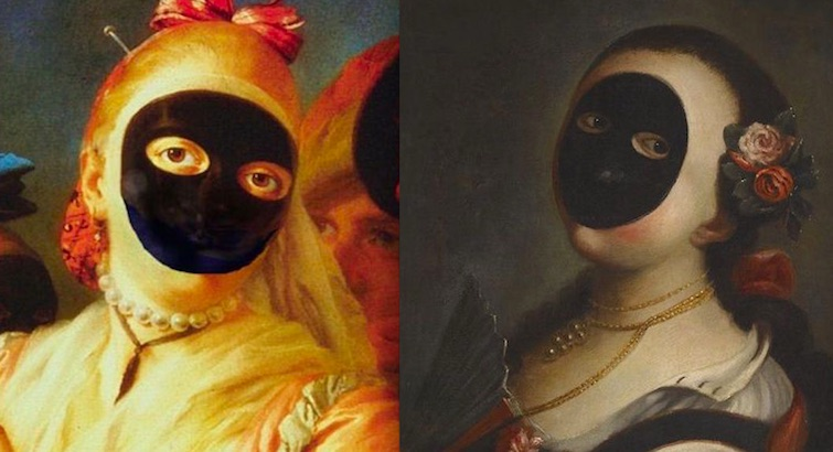 Wearing a vizard kept women pale and interesting in the 16th and 17th centuries