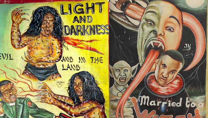 These amazing hand-painted Ghanaian horror movie posters are often better than the films!