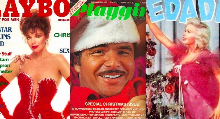Jingle all the way: Joan Collins, Burt Reynolds, & Jayne Mansfield selling sex mags at Christmas