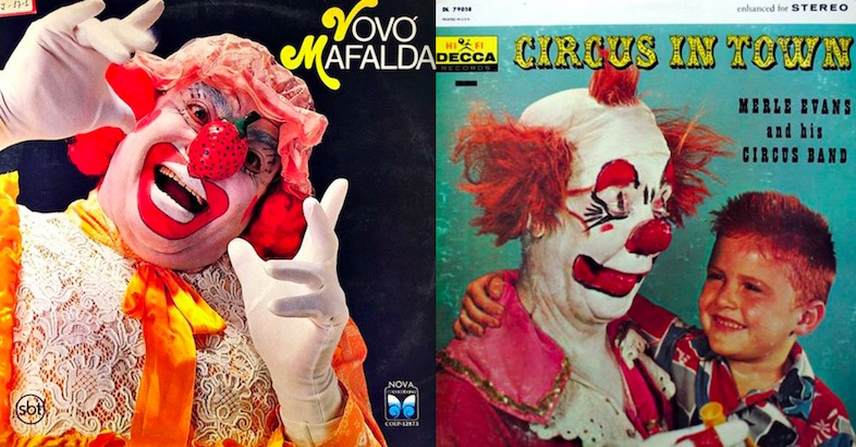 THE HORROR: Clown-themed album covers