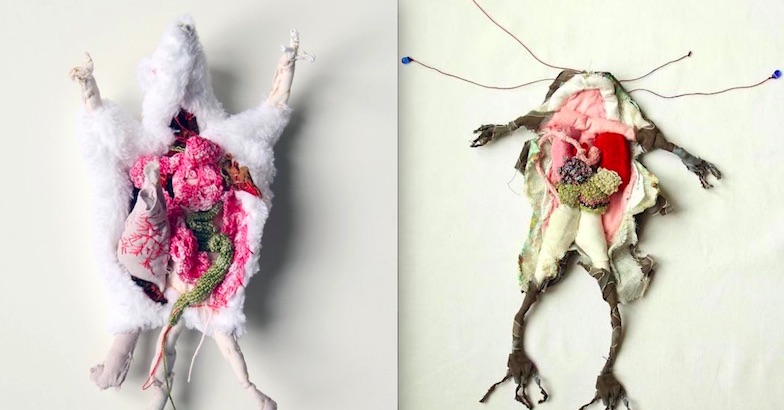 The 'thread of life': Anatomized textile sculptures