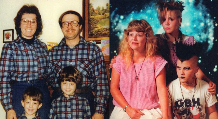 Amusing family portraits from the 1980s
