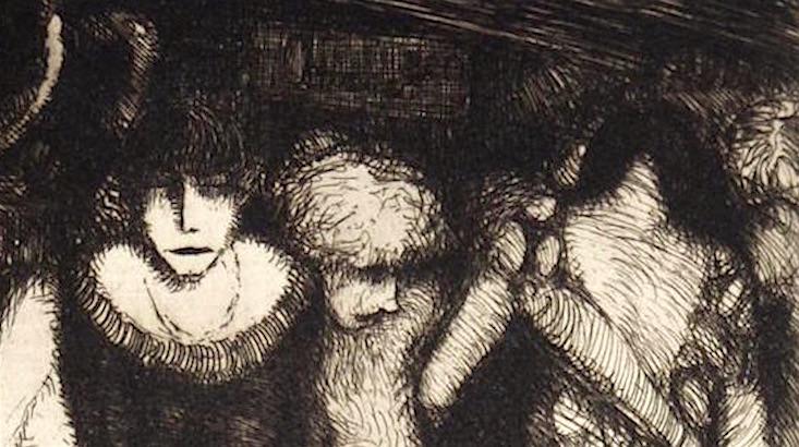 Dark Desires: The erotic etchings of Frans de Geetere (NSFW)