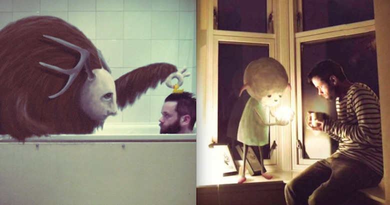 'All I See Are Monsters': Amusing Polaroids of imaginary creatures in everyday surroundings