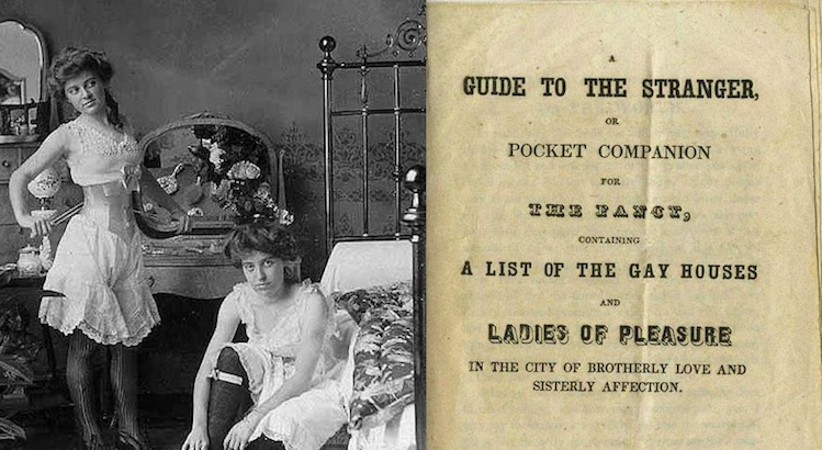 'A List of the Gay Houses and Ladies of Pleasure': Vintage brothel guide to Philadelphia from 1849