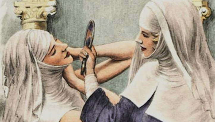 Naughty Nuns: Vintage nun porn from the classic tale 'The Nun' & more (NSFW or church)