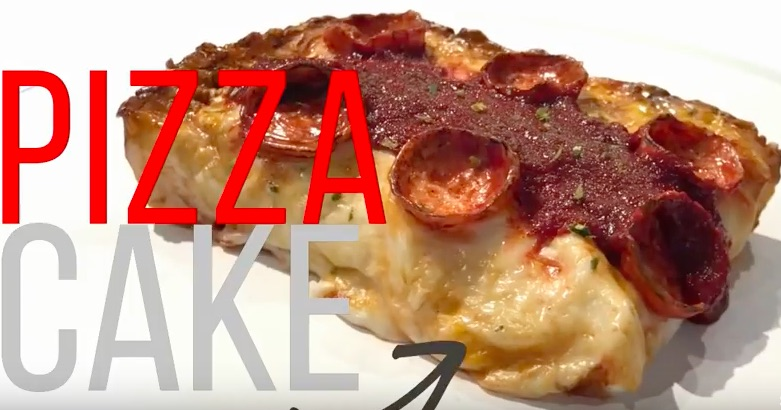 This pizza is actually a cake