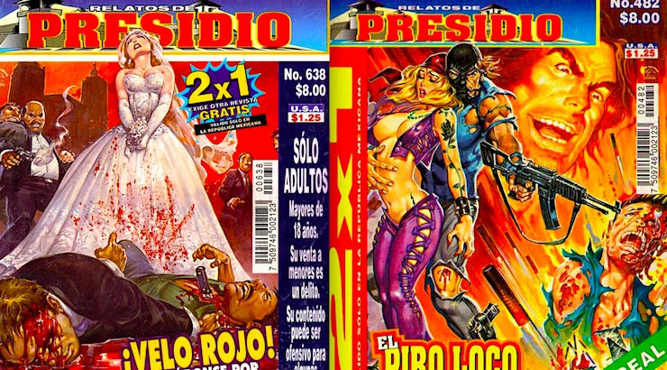 The explicitly gory and gruesome covers for Mexican comic book  'Relatos de Presidio' (NSFW)