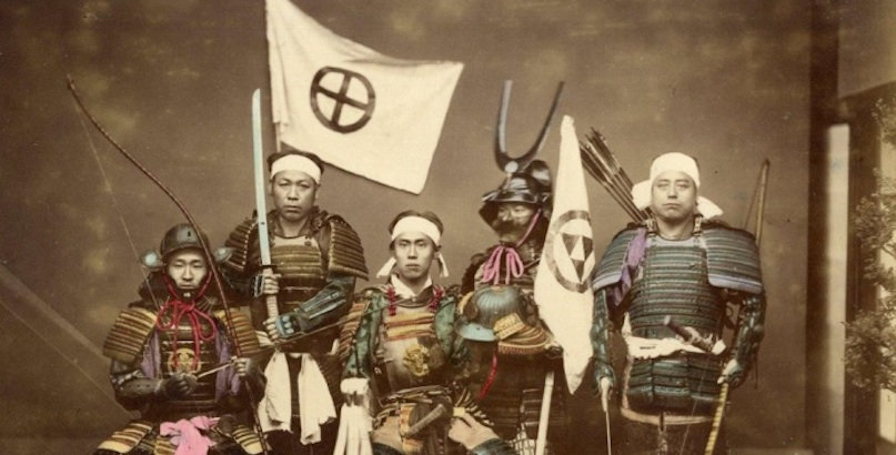 The last of the Samurai: Beautiful hand-colored photographs of the warriors and their courtesans