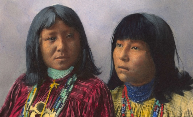 Beautiful hand-colored portraits of Native Americans 1898-1900