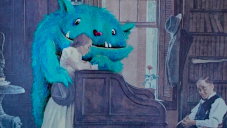 Artist gives thrift store paintings a pop culture makeover