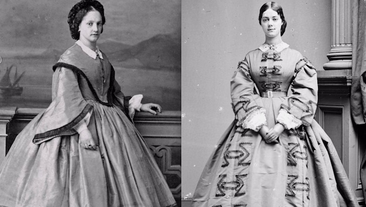 Just some Victorian women and their big-ass dresses