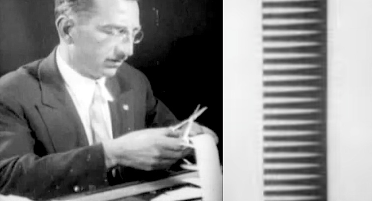 Listen to early Soviet synthesizer music, hand drawn on film and made from cut paper