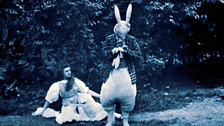 Watch the very first film version of 'Alice in Wonderland' from 1903