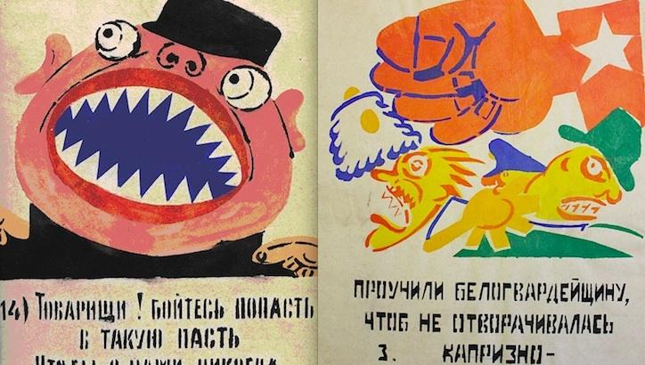 Socialist artist Vladimir Mayakovsky's agitprop posters for revolutionary Russia