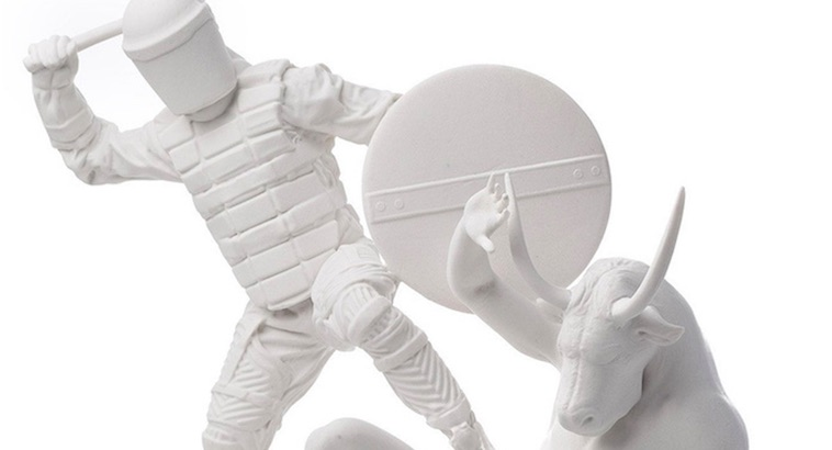 White Riot: Classical sculpture with a modern twist