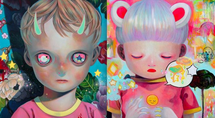 Hikari Shimoda's strange and beautiful paintings of children on the edge