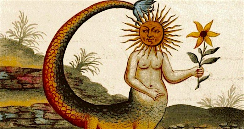 Snake women, dragons and other esoteric imagery from the alchemical manuscript 'Clavis Artis'