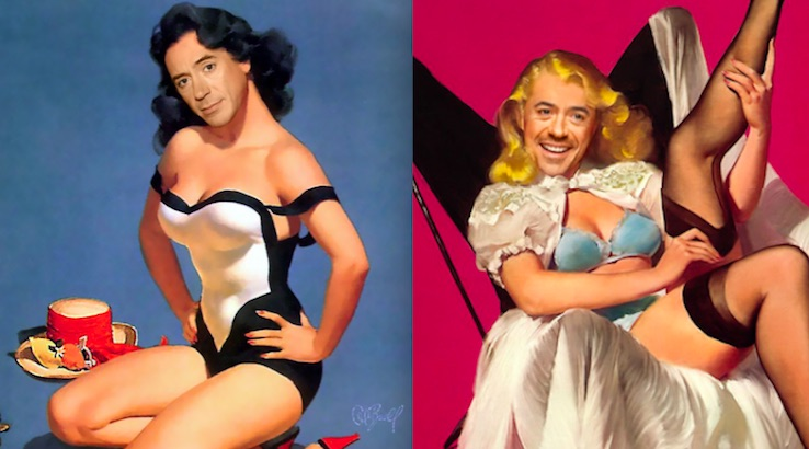 Bizarre, Sexy Pin-Ups of Robert Downey Jnr.
