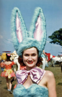 Color photographs of Circus performers 1940-50