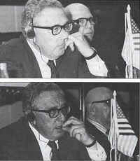 Henry Kissinger picks his nose…