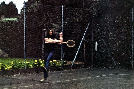 George Harrison playing tennis