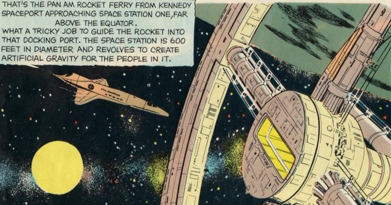 '2001: A Space Odyssey' comic in fantastic Howard Johnson's 'Children's Menu'