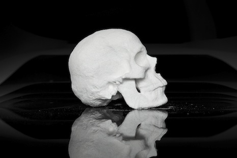 Skull made out of cocaine