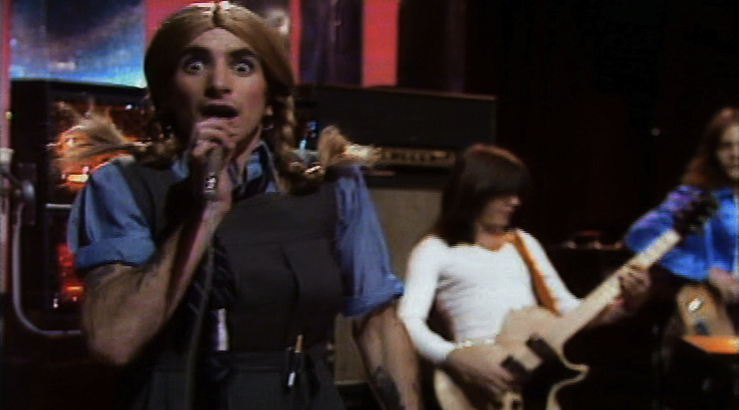 She's Got Big Balls: Bon Scott gets in drag for AC/DC's very first TV appearance, 1975