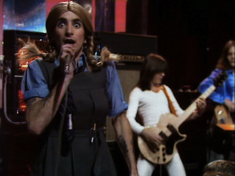 Bon Scott in drag