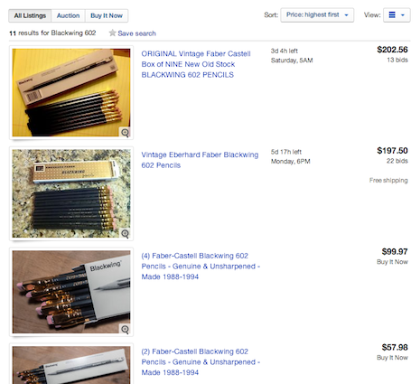 The Eberhard Faber Blackwing 602: 'Legendary' pencil