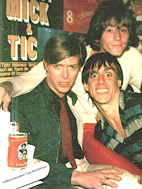 David Bowie, Iggy Pop, and Ivan Kral