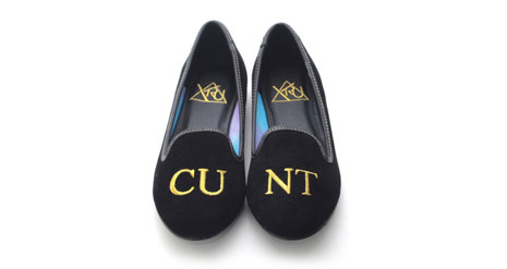 C*nt shoes by YRU