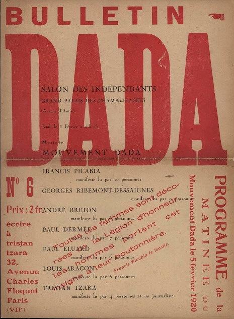 NOTHING, NOTHING, NOTHING: DADA, a 'destructive agitation against everything'