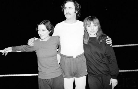 When Debbie Harry wrestled Andy Kaufman, 1983