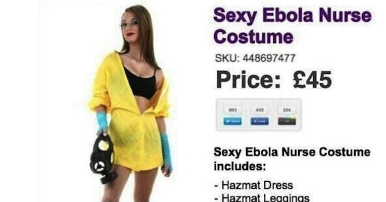 No, Internet, there isn't a 'sexy Ebola nurse' costume for Halloween (or is there?)