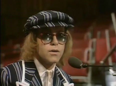 Elton John on 'The Morecambe and Wise Christmas Special,' 1977