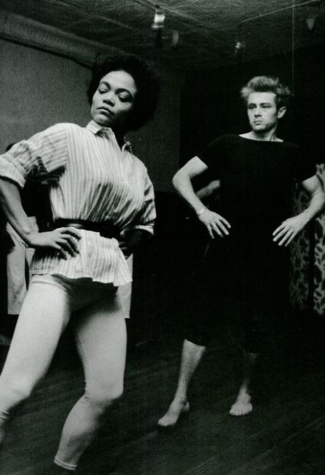 Eartha Kitt and James Dean