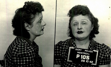 Sex workers of Montreal's WWII era Red Light District, a collection of mugshots