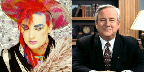 Boy George and Jerry Falwell talk androgyny on 'Face the Nation,' 1984