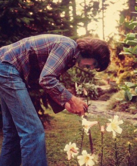 George in garden