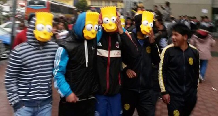 Thousands of Bolivians take to the streets protesting 'The Simpsons' time slot