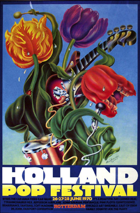 The Dutch Woodstock featuring Pink Floyd, T. Rex,The Byrds, Jefferson Airplane and many more