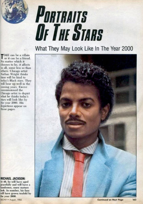 1985 Ebony article predicts what Michael Jackson will look like in the year 2000