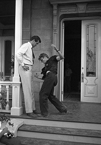 Great moments in queer cinema: James Dean attempting to punch Rock Hudson in the dick