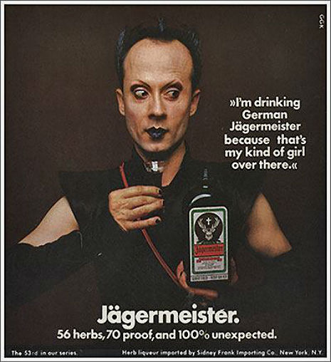 Klaus Nomi advertising Jägermeister