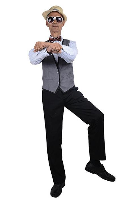 Liu Xianping in a 'Gangnam Style' pose